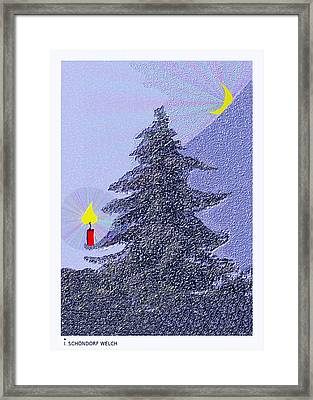 792 -  Lonely Candle  Framed Print