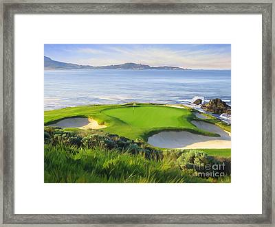 7th Hole At Pebble Beach Framed Print by Tim Gilliland