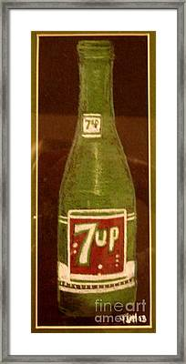Framed Print featuring the pastel 7up Bottle by Joseph Hawkins