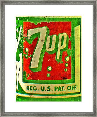 7up Framed Print by Jon Baldwin  Art