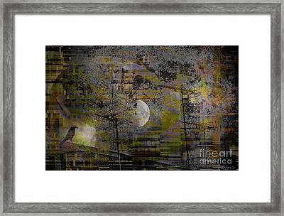 Framed Print featuring the digital art What Is Real Is Not The Exterior But The Idea, The Essence Of Things.  by Danica Radman
