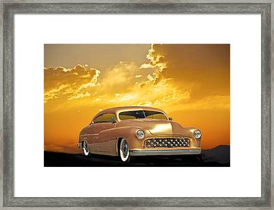 1950 Mercury Custom Framed Print by Dave Koontz
