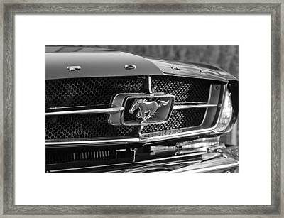 1965 Shelby Prototype Ford Mustang Grille Emblem Framed Print