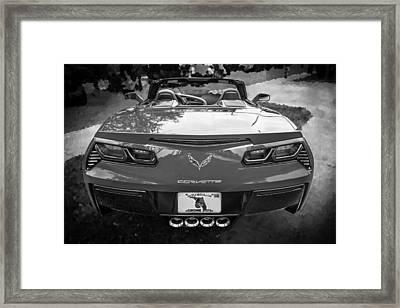 2014 Chevrolet Corvette C7 Bw   Framed Print by Rich Franco