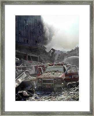 9-11-01 Wtc Terrorist Attack Framed Print