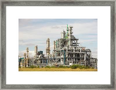 A Bp Chemical Plant At Salt End Framed Print by Ashley Cooper