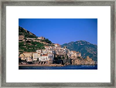 Amalfi Town In Italy Framed Print by George Atsametakis
