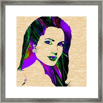 Angelina Jolie Collection Framed Print
