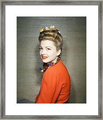 Anne Baxter Framed Print