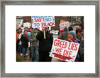 Anti-fracking Protest Framed Print by Jim West