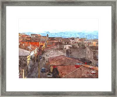 Arzachena Paesaggio Framed Print