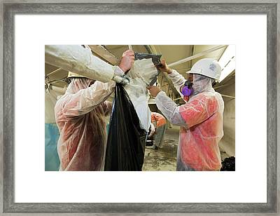 Asbestos Removal Training Framed Print by Jim West