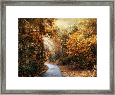 Autumn Trail Framed Print by Jessica Jenney