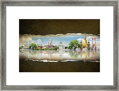 Background Travel Concept Framed Print by Potowizard Thailand