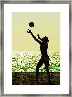 Beach Volleyball Framed Print by Celso Diniz