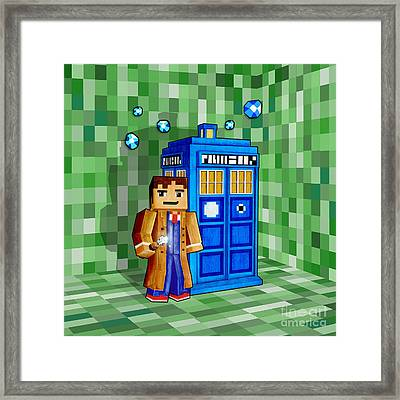 8 Bit Time And Space Traveller Framed Print