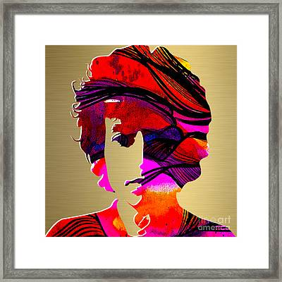 Bob Dylan Gold Series Framed Print
