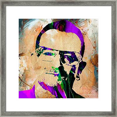 Bono U2 Framed Print by Marvin Blaine