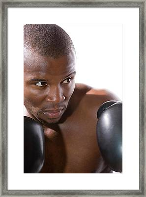 Boxer Training Framed Print by Gustoimages/science Photo Library