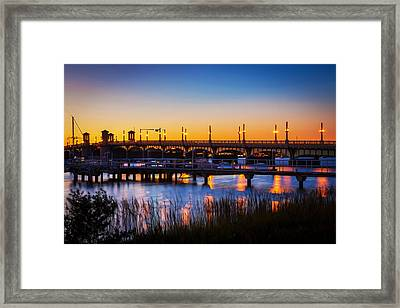 Bridge Of Lions St Augustine Florida Painted  Framed Print by Rich Franco