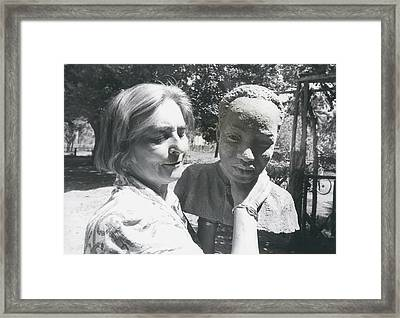 British-born Sculptress Completes Bust Of President Nyerere Framed Print by Retro Images Archive