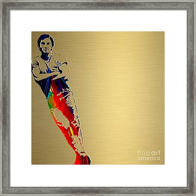 Bruce Springsteen Gold Series Framed Print