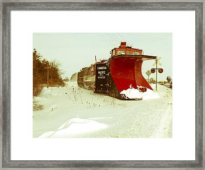 Canadian Pacific Snow Plow Framed Print by Nick Mares