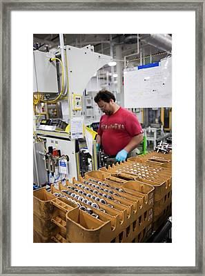 Car Transmission Assembly Line Framed Print by Jim West