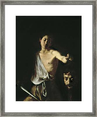 Caravaggio, Michelangelo Merisi Da Framed Print by Everett