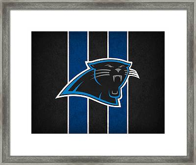 Carolina Panthers Framed Print by Joe Hamilton