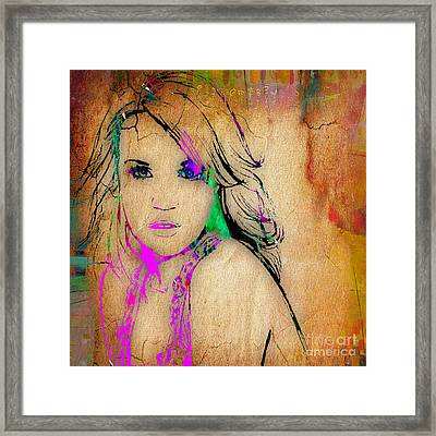 Carrie Underwood Framed Print by Marvin Blaine