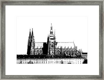 Cathedral Of St Vitus Framed Print