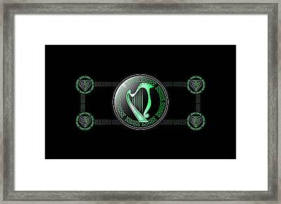 Celtic Harp Framed Print by Ireland Calling
