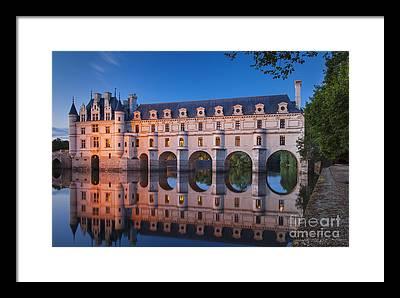 Chenonceau Castle Framed Prints