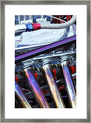 Chevrolet Engine Framed Print by Jill Reger