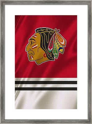 Chicago Blackhawks Uniform Framed Print by Joe Hamilton