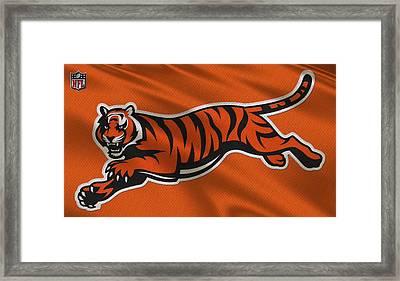 Cincinnati Bengals Uniform Framed Print by Joe Hamilton