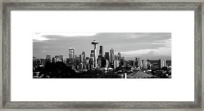 City Viewed From Queen Anne Hill, Space Framed Print by Panoramic Images