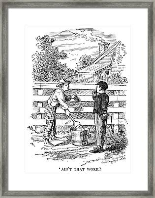 Clemens Tom Sawyer Framed Print