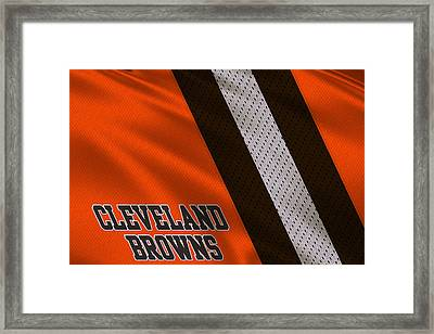 Cleveland Browns Uniform Framed Print by Joe Hamilton