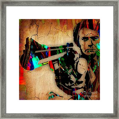 Clint Eastwood Collection Framed Print by Marvin Blaine