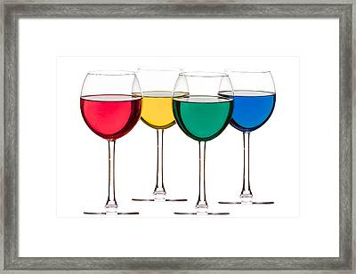 Colorful Drinks Framed Print by Peter Lakomy