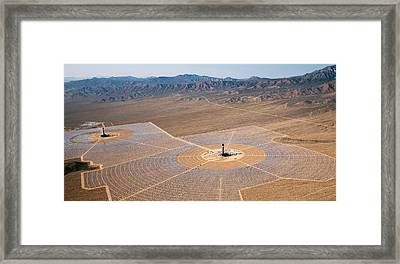 Concentrating Solar Power Plant Framed Print by Jim West