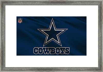 Dallas Cowboys Uniform Framed Print by Joe Hamilton