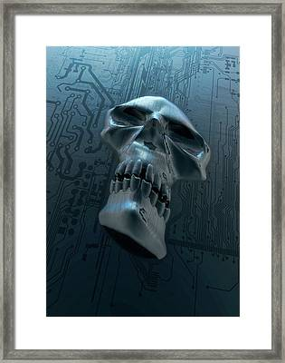 Data Security Framed Print by Victor Habbick Visions