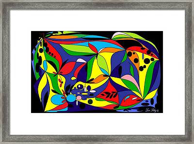Framed Print featuring the digital art Design By Loxi Sibley by Loxi Sibley
