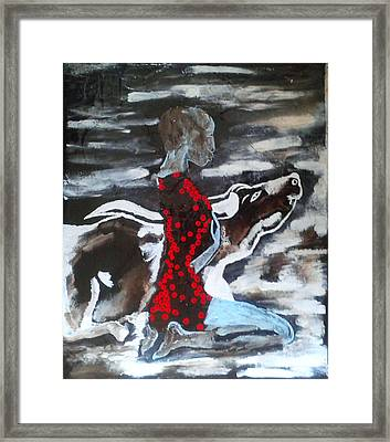 Dinka Bride - South Sudan Framed Print