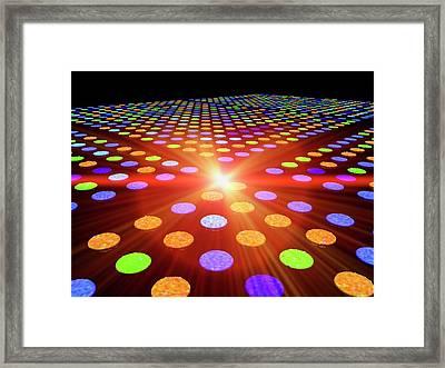 Dna Microarray Framed Print by Pasieka
