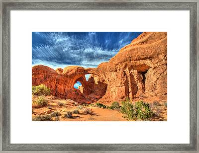 Double Arch In Arches National Park Framed Print by Pierre Leclerc Photography