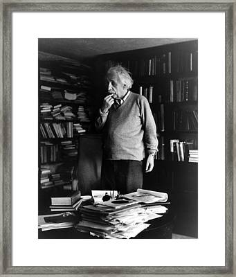 Dr. Albert Einstein Framed Print
